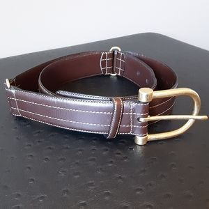 KENNETH COLE BROWN ITALIAN LEATHER BELT 38